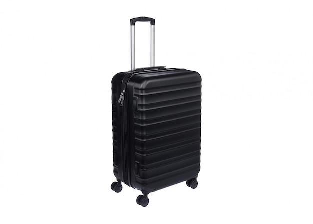 Черная сумка багажа изолирована