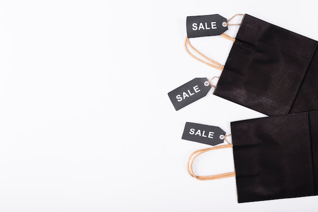 Black bags with black sale tags
