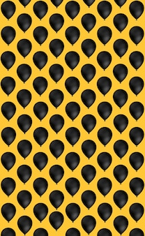 Black balloon pattern