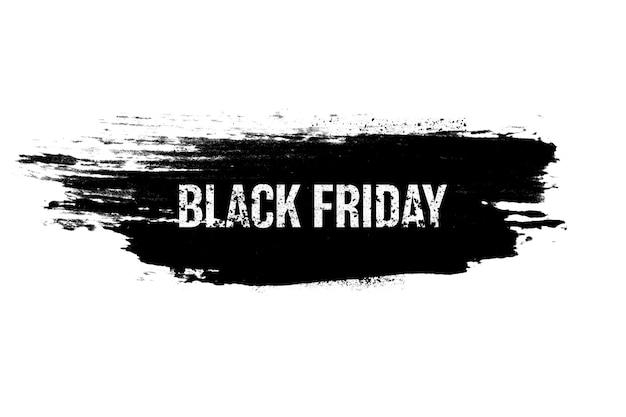 Черный баннер с надписью изолирован на белом фоне. черная пятница. сезонные распродажи. фото высокого качества