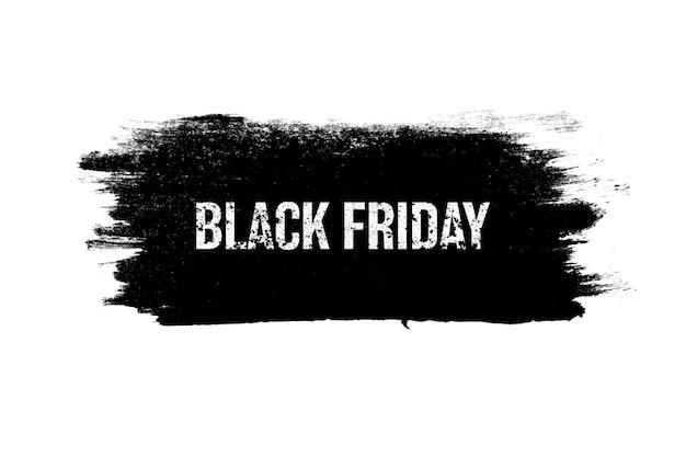 비문이 있는 검은색 배너는 흰색 배경에 격리되어 있습니다. 검은 금요일. 계절 판매. 고품질 사진