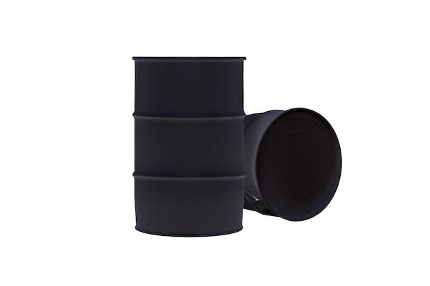 白で隔離される黒いバレルタンク