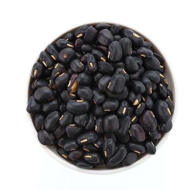 흰 배경에 고립 된 검은 콩