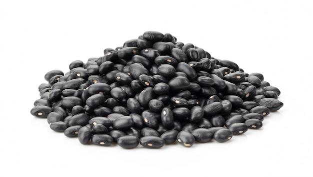 白で隔離される黒豆