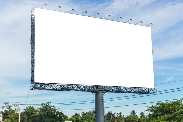 Черный рекламный щит для новой рекламы