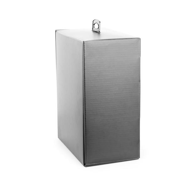 흰색 배경에 고립 된 검은 빈 상자