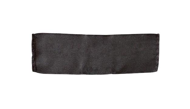흰색 배경에 고립 된 검은 빈 의류 태그 레이블