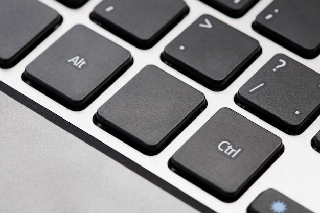 Black blank computer keyboard button with copyspace