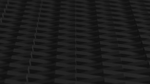 검은 블록 3d 렌더링