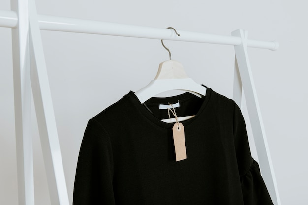 Black blouse in store