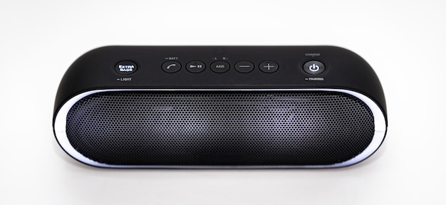 Black bluetooth speaker with lights