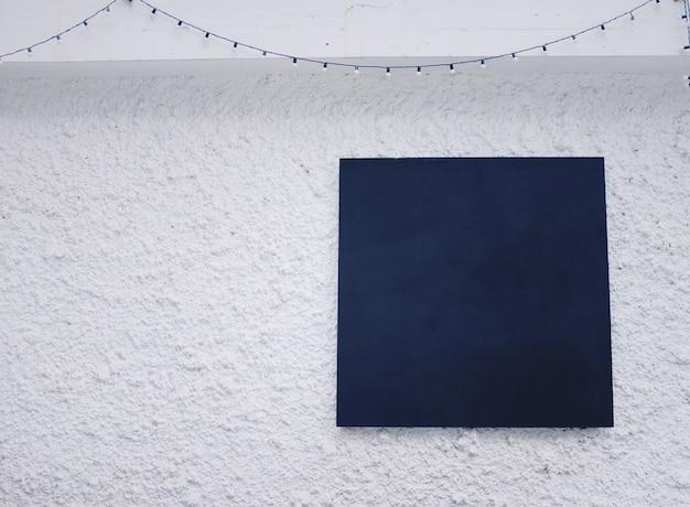 Black board white cement background.