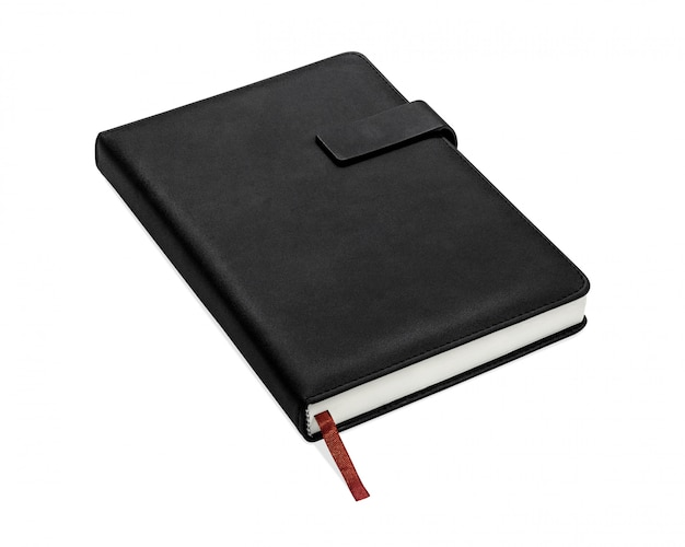 Black book isolated on white background.