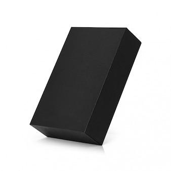 Black box isolated on white background.