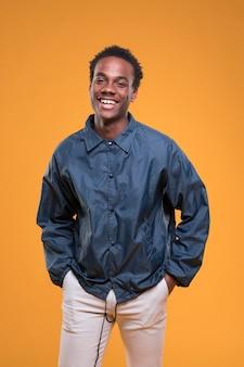 Black boy posing