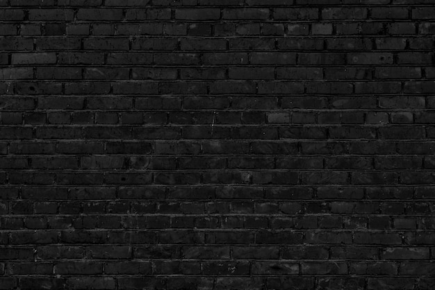 Black brick building wall. interior of a modern loft. background for design