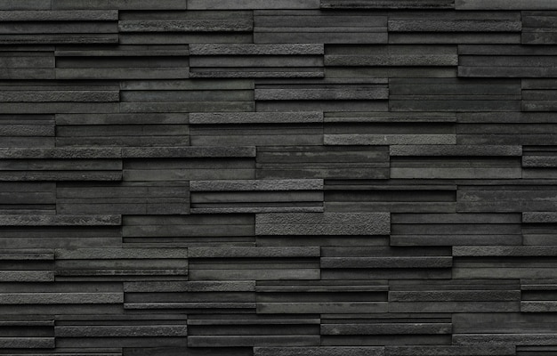 Black brick slate wall texture background