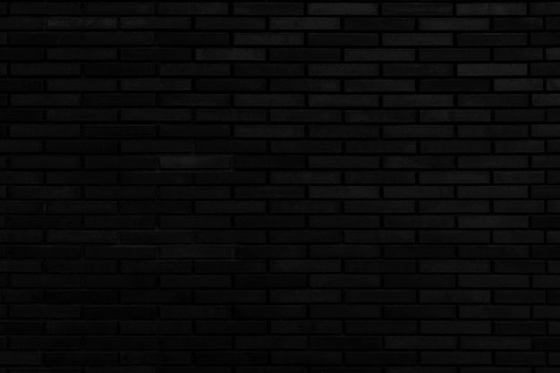 Black brick wall architectural background