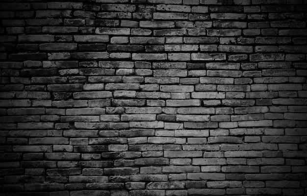 검은 벽돌 벽 배경 또는 질감
