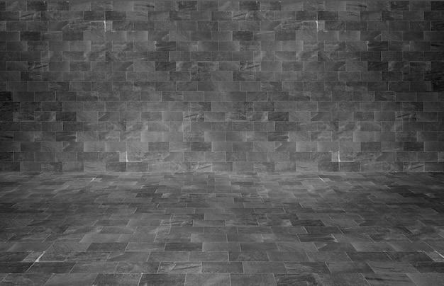 黒レンガの壁のテクスチャ背景