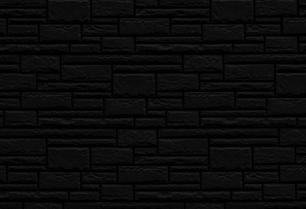 Black brick wall texture of building.