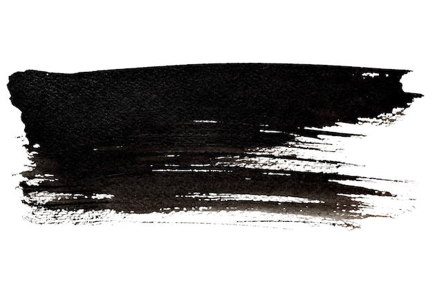 Black brush stroke close-up. grunge abstract background. space for your own text. raster illustration