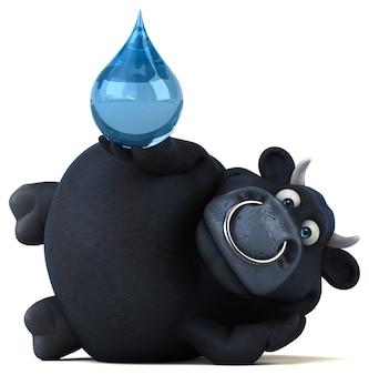 Черный бык - 3d иллюстрации