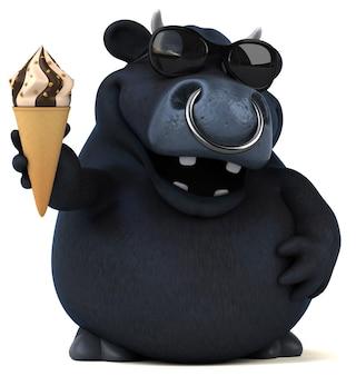 Анимация черного быка