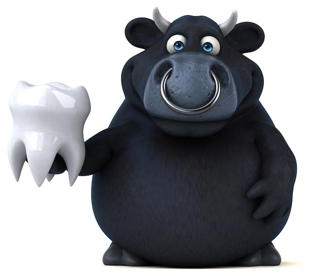 Black bull illustration