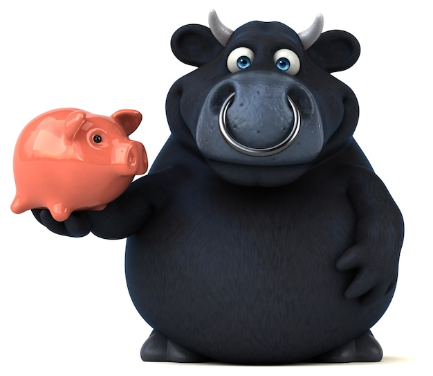 Иллюстрация черного быка