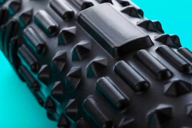 Black bumpy foam massage roller