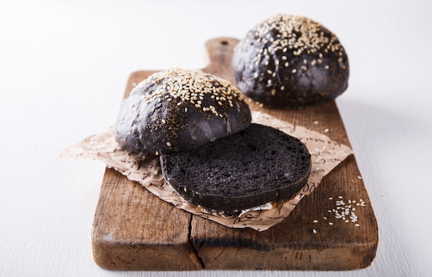 Black bun for the burger and sandwich