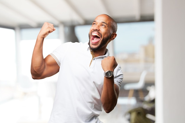 Black businessman happy expression