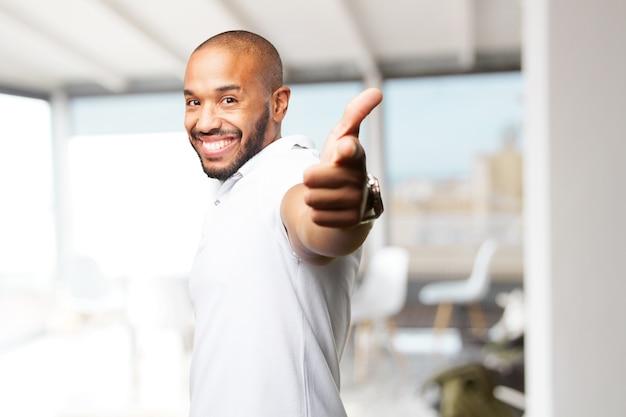 Black businessman happy expression