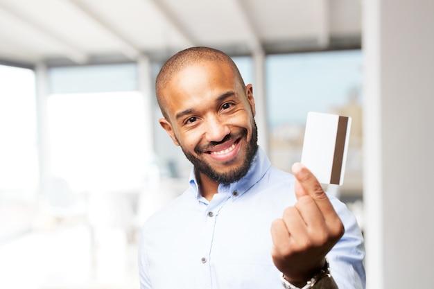 흑인 사업가 행복 식
