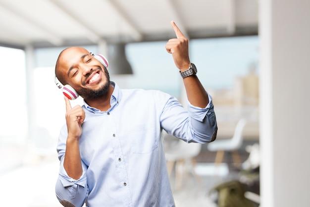 D'affari nero felice espressione