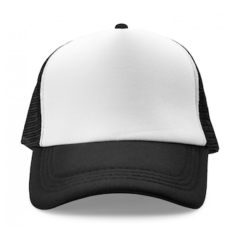 Black cap isolated on white background. fashion hat for design.