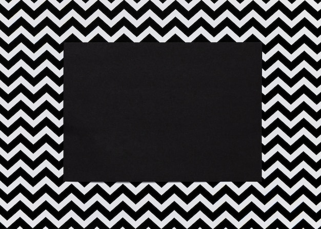 Black cardboard with abstract frame