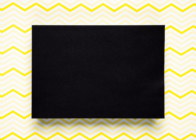 Black cardboard with pattern background
