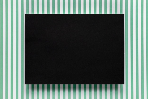 Black cardboard with stripped background