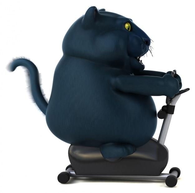 黒い猫-3 dイラストレーション