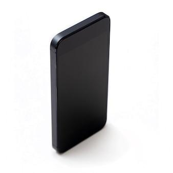 흰색에 검은 핸드폰 모형