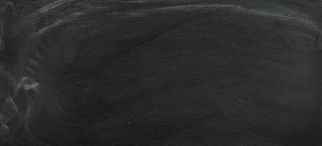 분필로 청소한 검정 칠판, 텍스트용 칠판 배경
