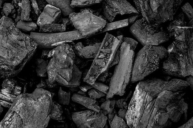 Черный уголь текстура фон