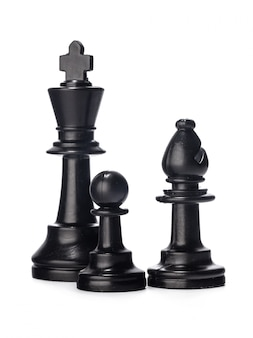 Black chess piece isolated