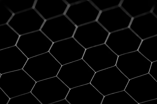 Black circle background. steel grating, texture black grid.