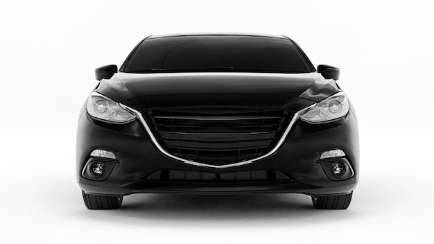 창의적인 디자인 3d 렌더링을 위한 빈 표면이 있는 검은색 도시 자동차