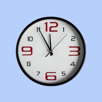 Black clock in front