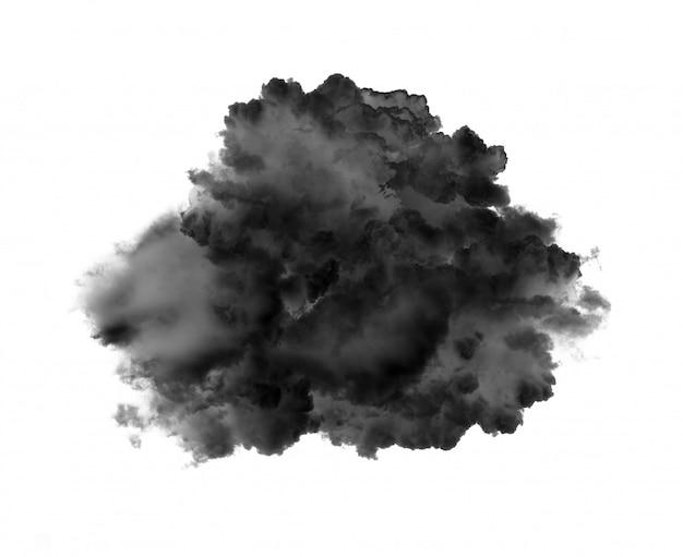 Черные облака или дым на белом