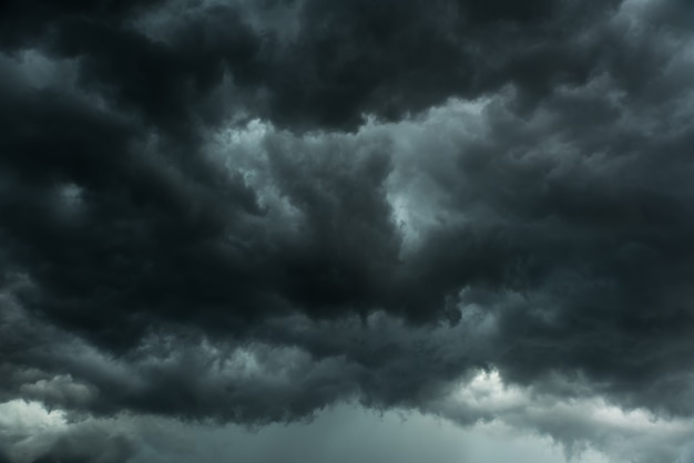 Black clouds and storm